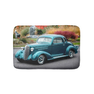 1936 Chevy Hot Rod Coupe Chevrolet Classic Car Bath Mat