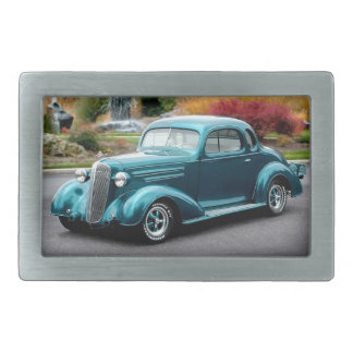 1936 Chevy Hot Rod Coupe Chevrolet Classic Car Rectangular Belt Buckles