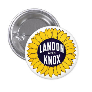 1936 Elect Landon and Knox 3 Cm Round Badge