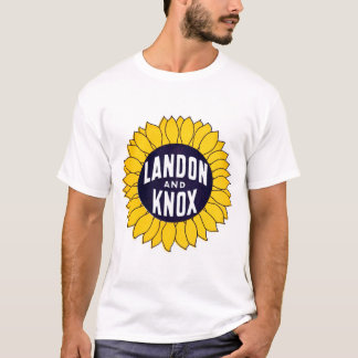 1936 Elect Landon and Knox T-Shirt