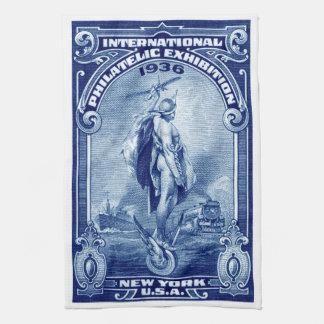 1936 International Philatelic Expo New York Hand Towel