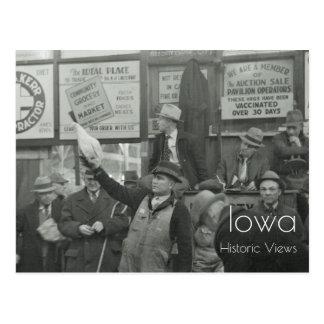 1936 Livestock Auction Postcard