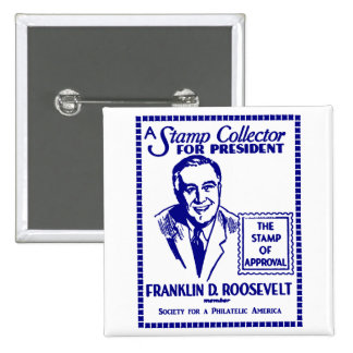 1936 Stamp Collector FDR for President Buttons