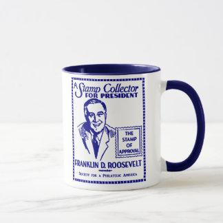 1936 Stamp Collector FDR for President Mug