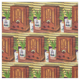 1937 cathedral radio print fabric