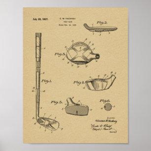5225349798c7b Golf Patent Posters & Photo Prints | Zazzle AU