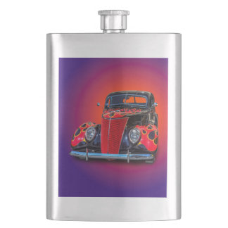 1937 VINTAGE CAR HIP FLASK