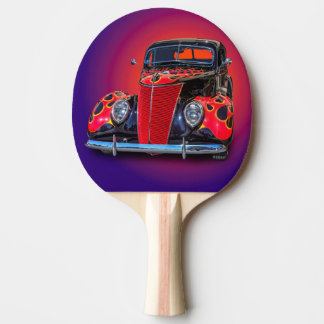 1937 VINTAGE CAR PING PONG PADDLE