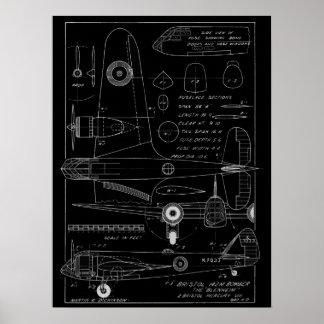 1938 Aviation Airplane Bristol Bomber Art Print