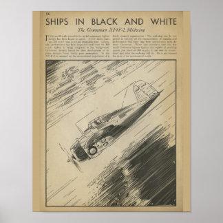 1938 Aviation Airplane Grummen Art Print
