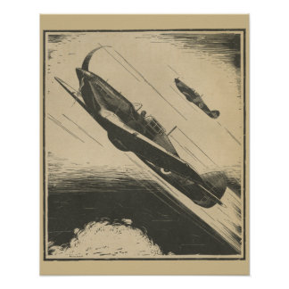 1938 Aviation Fighter Airplane Art Print