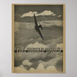 1938 Aviation Magazine Airplane Art Print