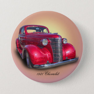 1938 CHEVROLET 7.5 CM ROUND BADGE