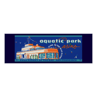 1939 Aquatic Park Casino - Vintage matchbox cover Poster