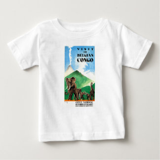 1939 Belgian Congo Elephants Travel Poster Baby T-Shirt