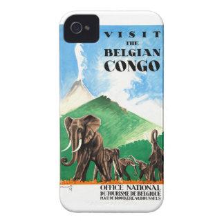 1939 Belgian Congo Elephants Travel Poster Case-Mate iPhone 4 Case