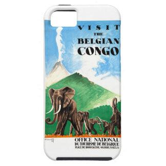 1939 Belgian Congo Elephants Travel Poster iPhone 5 Case