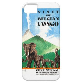 1939 Belgian Congo Elephants Travel Poster iPhone 5 Covers