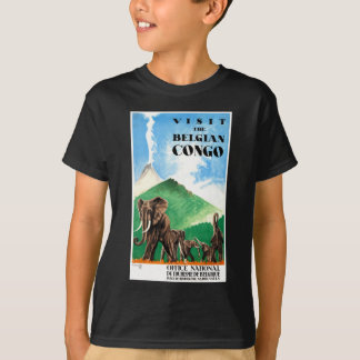 1939 Belgian Congo Elephants Travel Poster T-Shirt