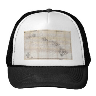 1939 Japanese Map of Hawaii Pearl Harbor Cap