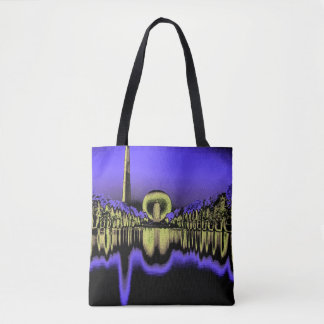 1939 New York Worlds Fair Art From Photograph Tote Bag
