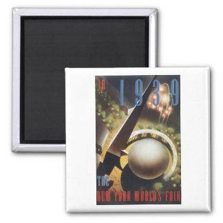1939 New York World's Fair Square Magnet