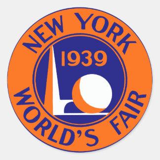 1939 New York World's Fair Sticker