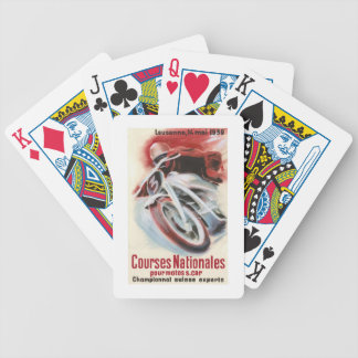 1939 Swiss National Motorcycle Racing Championship Bicycle Playing Cards