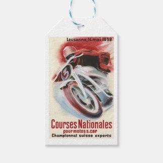 1939 Swiss National Motorcycle Racing Championship Gift Tags