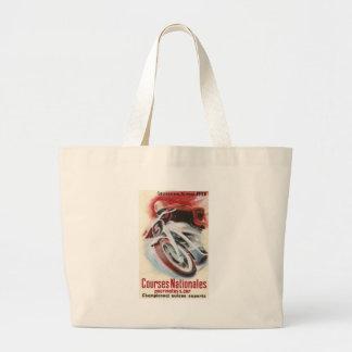 1939 Swiss National Motorcycle Racing Championship Large Tote Bag