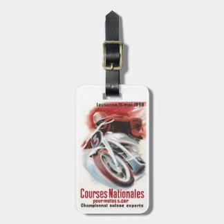 1939 Swiss National Motorcycle Racing Championship Luggage Tag