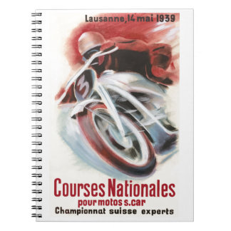1939 Swiss National Motorcycle Racing Championship Notebook