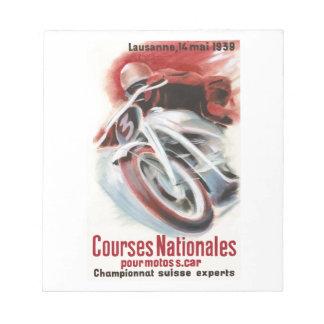 1939 Swiss National Motorcycle Racing Championship Notepad