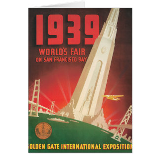 1939 World's Fair San Francisco Travel Poster Card