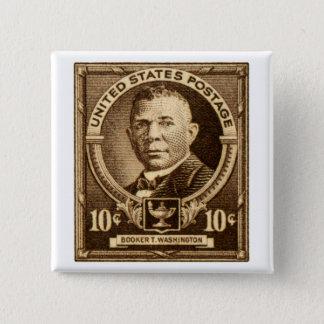 1940 Booker T. Washington Stamp 15 Cm Square Badge