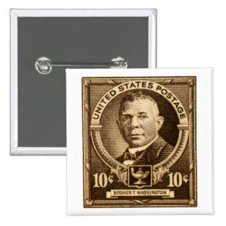 1940 Booker T. Washington Stamp 15 Cm Square Badge