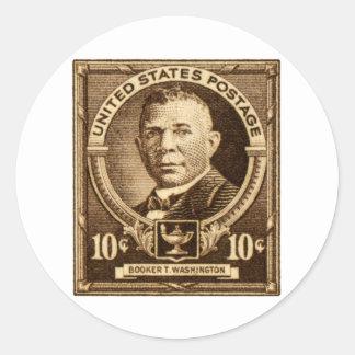 1940 Booker T. Washington Stamp Round Sticker