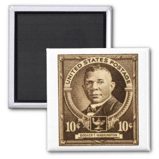 1940 Booker T. Washington Stamp Square Magnet
