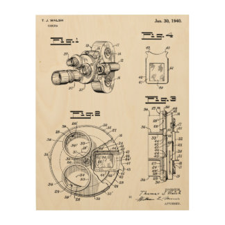1940 Vintage Camera Patent Art Drawing Print