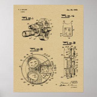 1940 Vintage Camera Patent Art Drawing Print