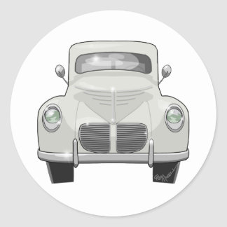 1940 Willys Overland Classic Round Sticker