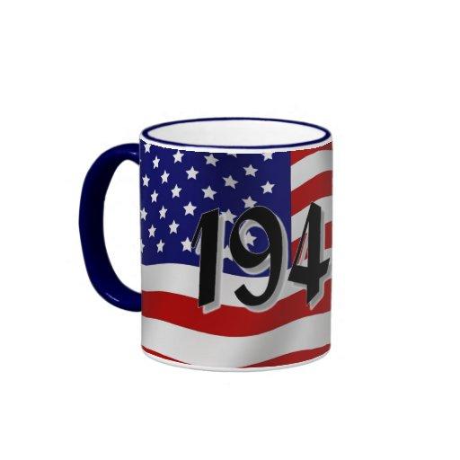 1940s American Flag Mug