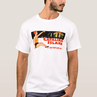 1940s Catalina Island Vintage Design T-Shirt