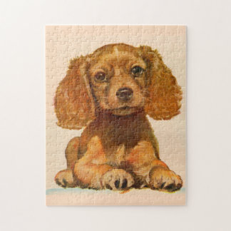 1940s cocker spaniel puppy - The Cutest in History Jigsaw Puzzle