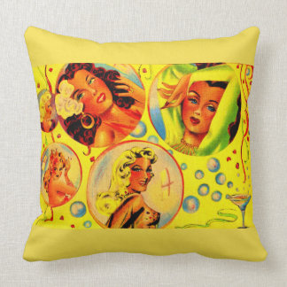 1940s glamour girls print cushion