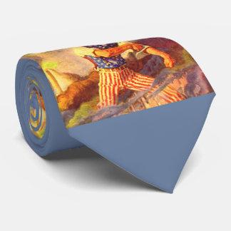 1940s heroic Uncle Sam rolls up his sleeve Tie
