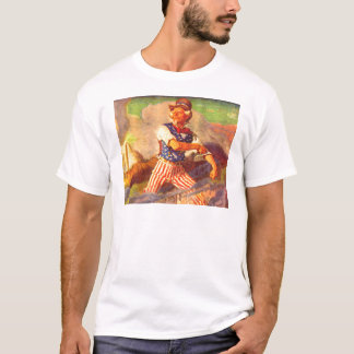 1940s heroic Uncle Sam rolls up his sleeves T-Shirt