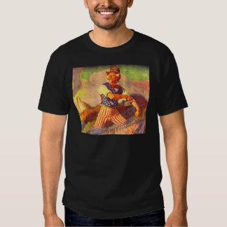 1940s heroic Uncle Sam rolls up his sleeves Tshirt