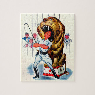 1940s lion tamer and lion jigsaw puzzle