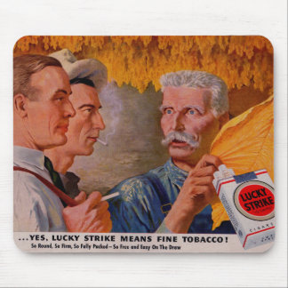 1940s Lucky Strike Means Fine Tobacco Mouse Pad